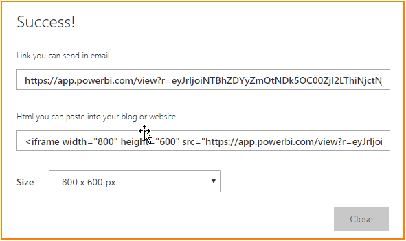 Publish to web URL links
