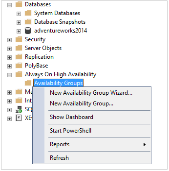 Read Scale Availability Group configuration using Wizard
