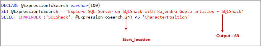Search a substring position in a specified string with multiple matching