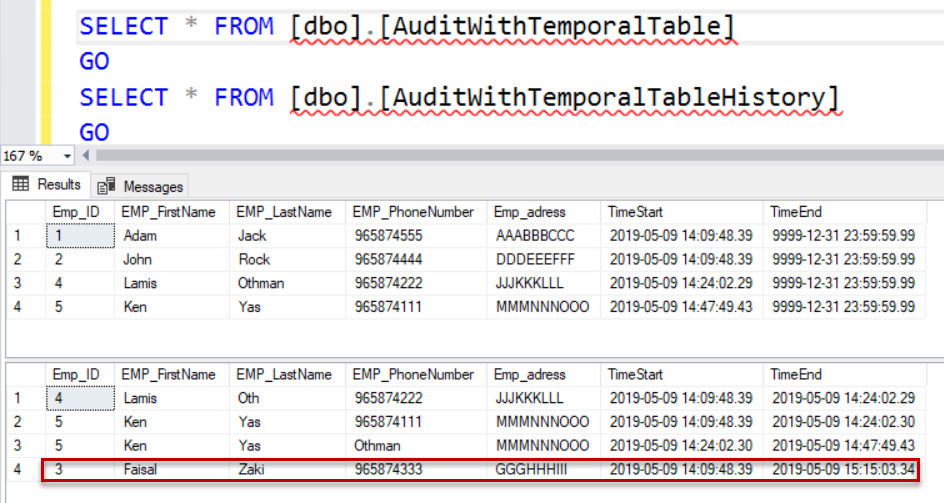 SQL audit - Result After Delete
