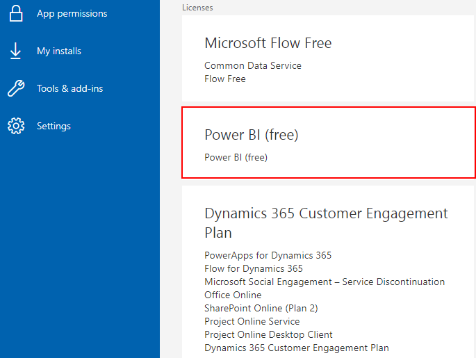 Subscription details for a Dynamics 365 Customer Engagement Plan