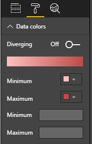 Data color menu