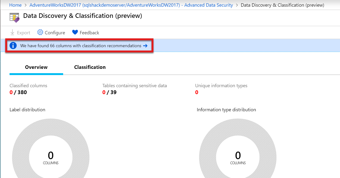 Data Discovery & Classification in Advanced Data Security in Azure SQL.