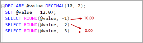 Decimal data type value with negative Length