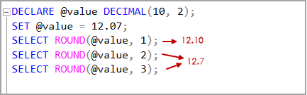 Decimal data type value with positive Length