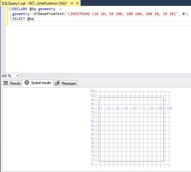 Spatial data types in SQL Server