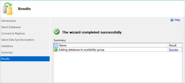 Message after adding database into Always on Availaibilty Group