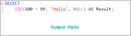 NULL values in IIF