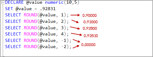 Numeric data type value with positive and negative Length