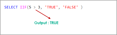 SQL IIF statement for comparing integer values - FALSE condition