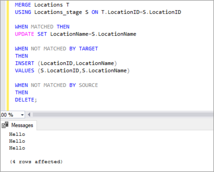 SQL Server MERGE Statement overview and examples