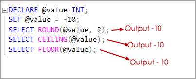 SQL Server rounding function with negative integer