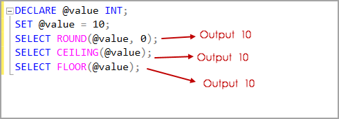Overview of SQL Server Rounding Functions – SQL Round