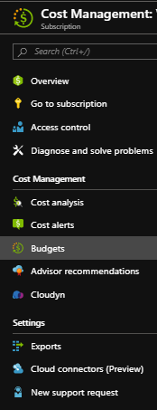 The cost management tool in the Azure portal for managing Azure costs