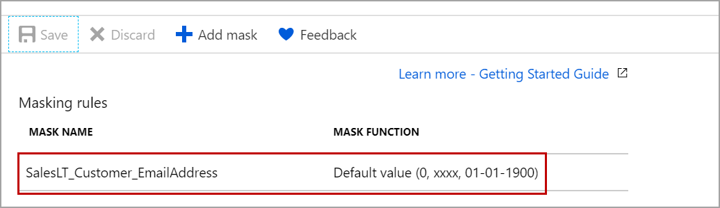 change the default masking function