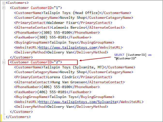 FOR XML PATH clause in SQL Server