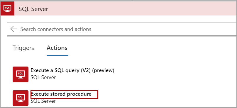 Execute procedure step in Logic App