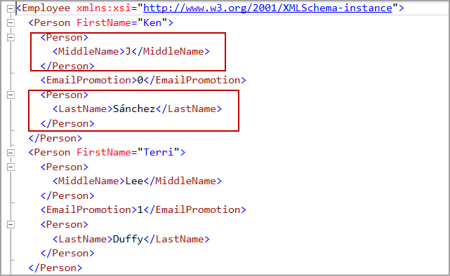 Incorrect use of adding new column with alias XML