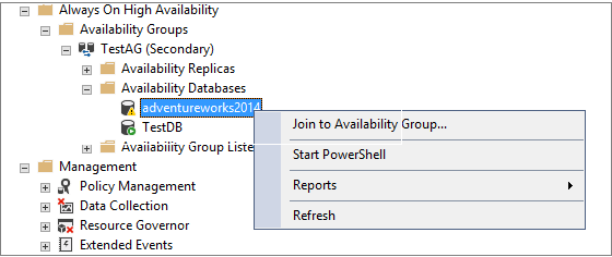 Join to Availability Group in SQL Server Always On Availability Group