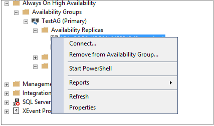 Remove from Availability Group