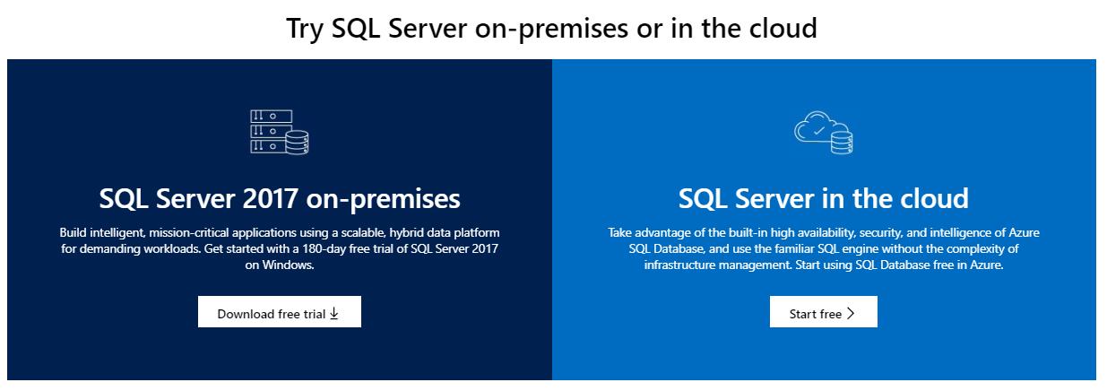 SQL Server download guide