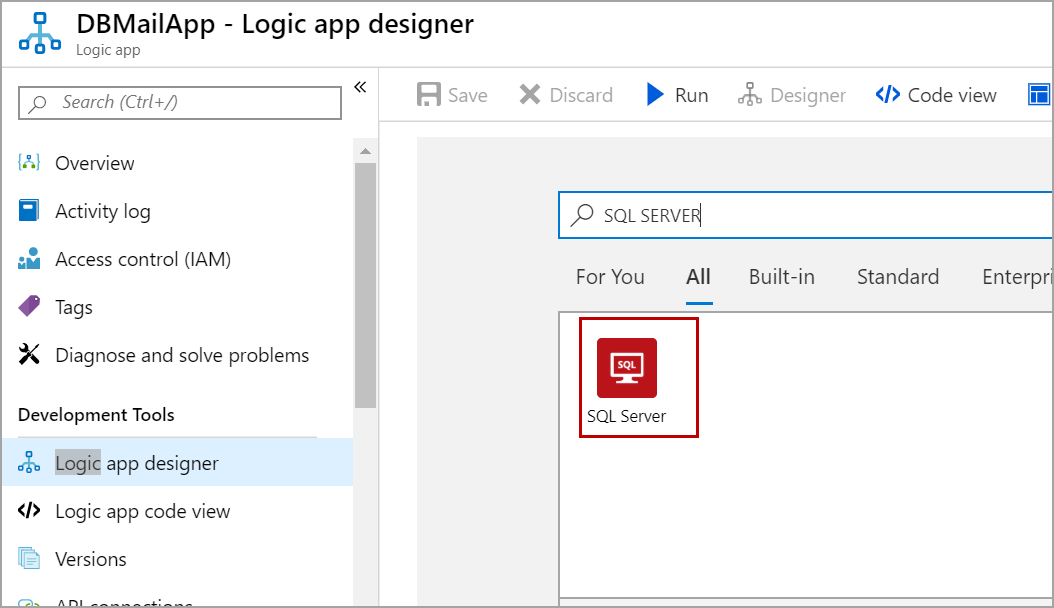 SQL Server step in Logic App