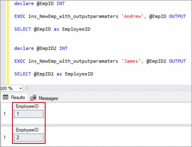 SQL Server stored procedures with default parameters