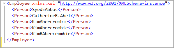 Wildcard character in XML