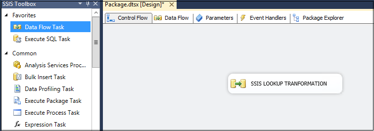 Add a Data Flow Task and rename it