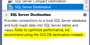 This image shows a screenshot of the SQL Server Description mentioned in Visual Studio