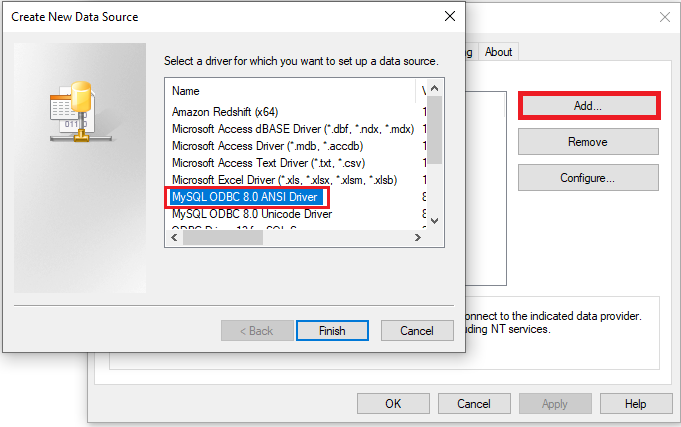 Adding ODBC Connection where SQL SERVER is installed