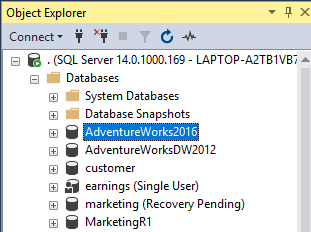 Adventureworks SQL database
