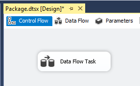 Data Flow task in the Control Flow.