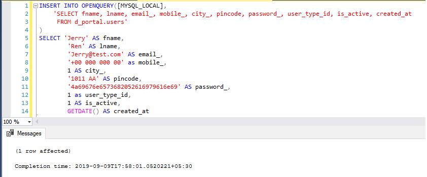 MySQL Query (T-SQL) Tutorial for SQL Server