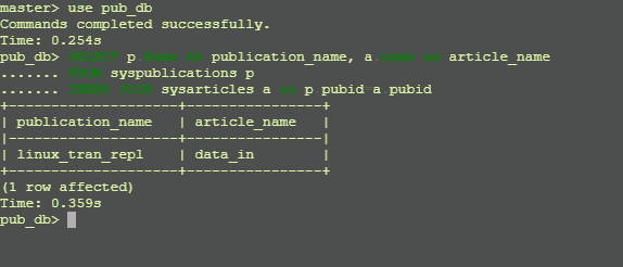 List Articles with Publication in Transaction Replication.