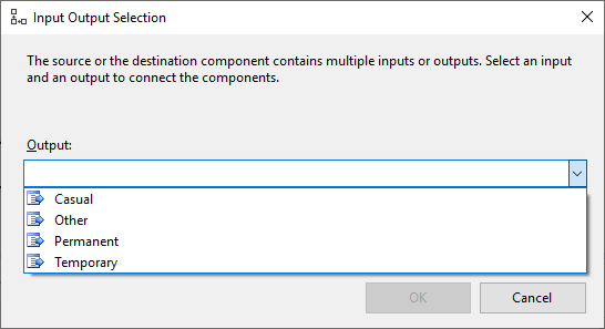 Output Paths for SSIS Conditional Split Tranformation.