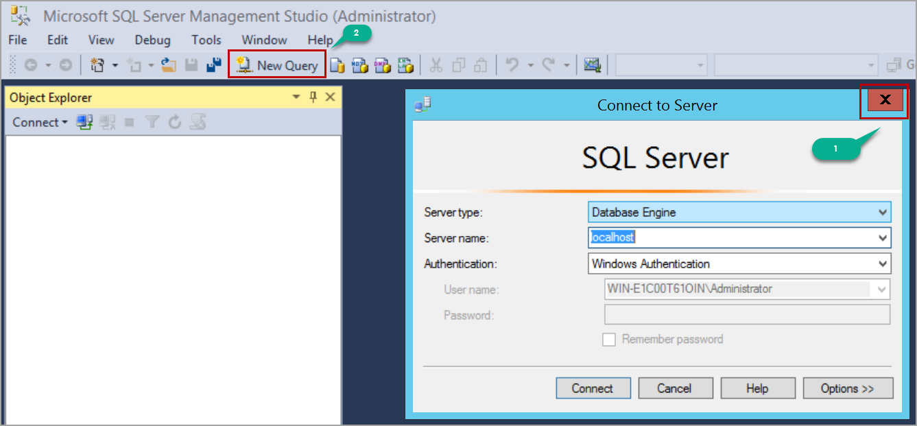 Querying SQL Server in single user mode using SQL Server management studio