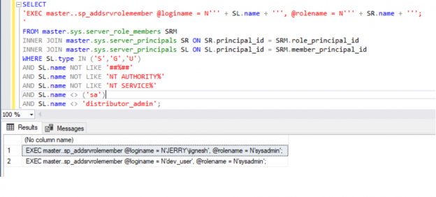 Security Roles with Login Script to prepare role for the existing SQL Logins.