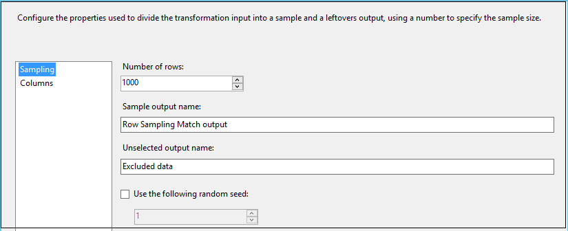 specify number of rows and output name
