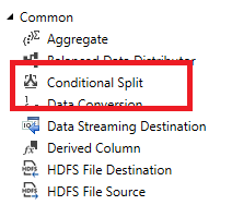 SSIS Conditional Split in the SSIS Tool box.