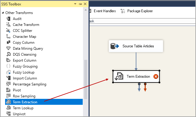 Term Extraction Transformation in SSIS