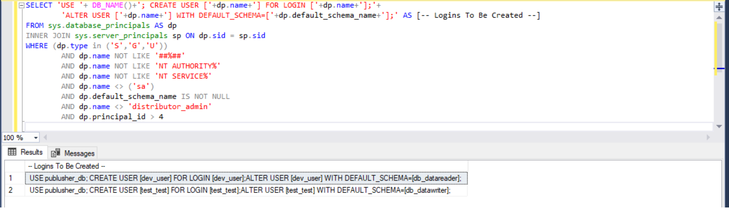 user with permision SQL Logins with permission roles