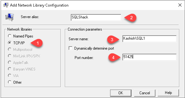 Add network library configuration