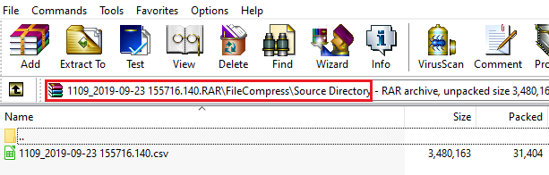 Compressed file Directory in file system