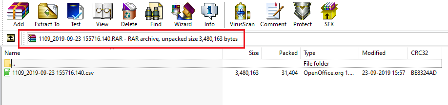 Compressed file Directory withoud folder tree in file system