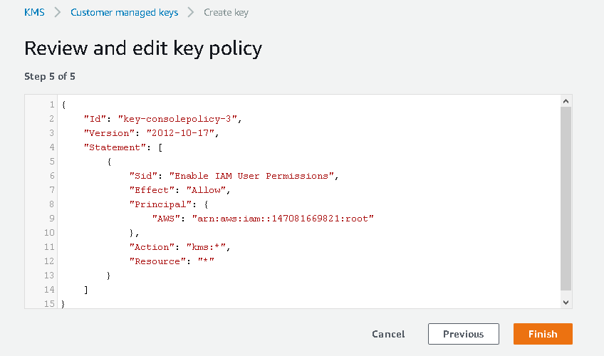 Review and edit key policy