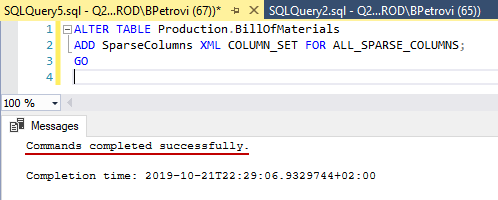 SQL code for creating a new column set based on all sparse columns