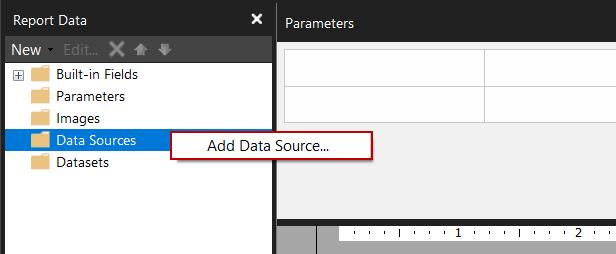 Agregar fuente de datos al Generador de informes