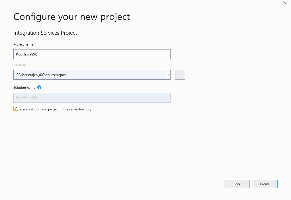Configure the project