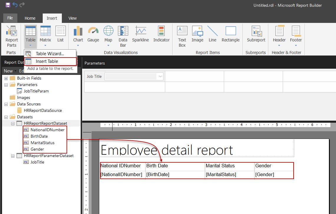 Diseñar un informe del Generador de informes